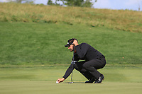 Lee Slattery (ENG) on the 10th green during Round 4 of the D+D Real Czech Masters at the Albatross Golf Resort, Prague, Czech Rep. 03/09/2017<br /> Picture: Golffile | Thos Caffrey<br /> <br /> <br /> All photo usage must carry mandatory copyright credit     (&copy; Golffile | Thos Caffrey)