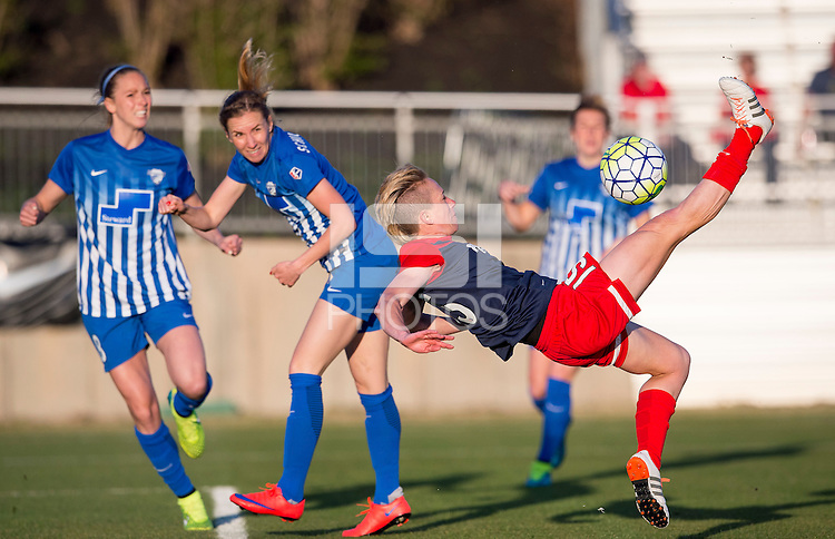 Boyds, MD - April 16, 2016: The Washington Spirit defeated the Boston Breakers 1-0 during their National Women's Soccer League (NWSL) match at the Maryland SoccerPlex.