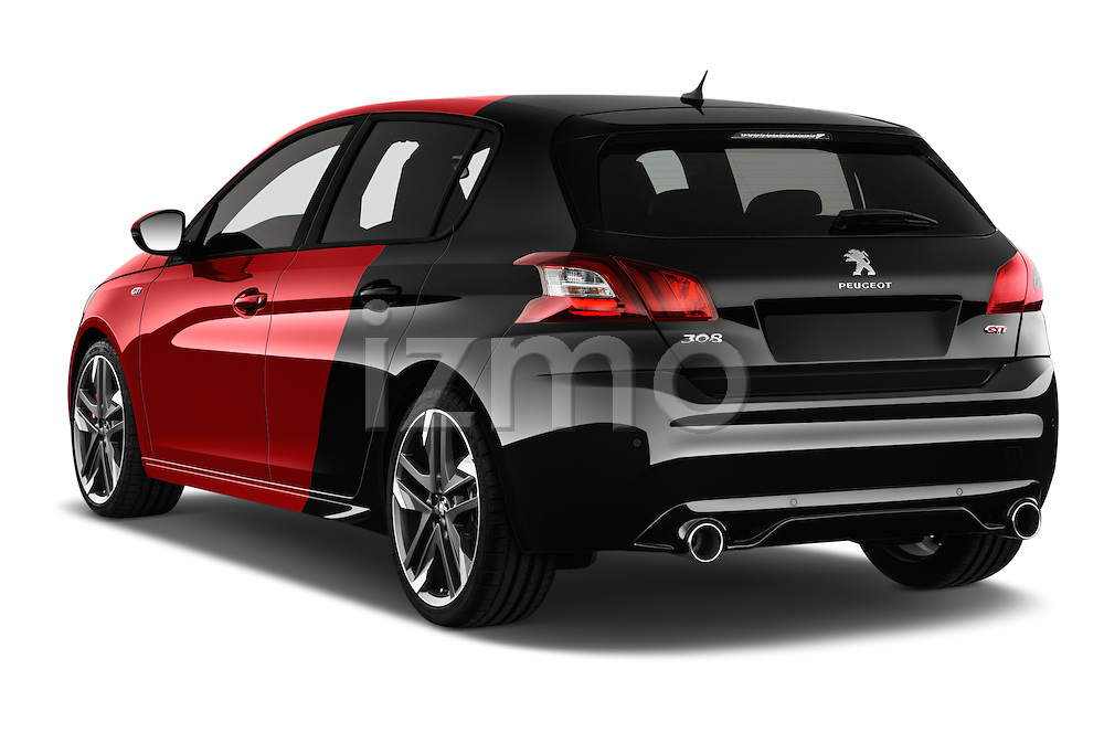 Car pictures of rear three quarter view of 2016 Peugeot 308 GTI 5 Door Hatchback Angular Rear