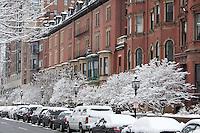 Commonwealth Avenue snow, Back Bay, Boston, MA