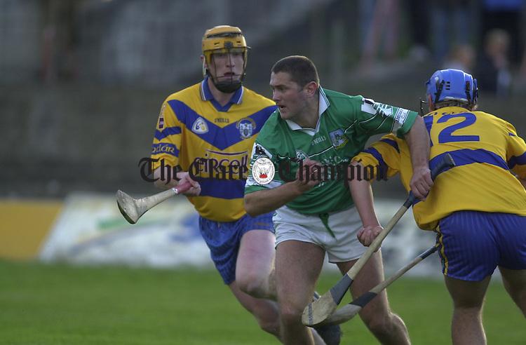 Niall Gilligan (left), Clare; Mark Foley (centre), Limerick, and Tony Carmody (right), Clare.