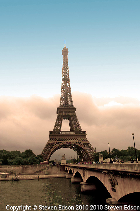 Eiffel Tower, Paris, France, Designed by Gustave Eiffel for the 1889 World's Fair