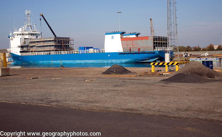 Dunston Ship Repairers yard, Albert Dock, Hull, Yorkshire, England
