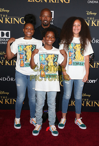 HOLLYWOOD, CA - JULY 9: Jamie Foxx at The Lion King Film Premiere at El Capitan Theatre in Hollywood, California on July 9, 2019. <br /> CAP/MPIFS<br /> ©MPIFS/Capital Pictures