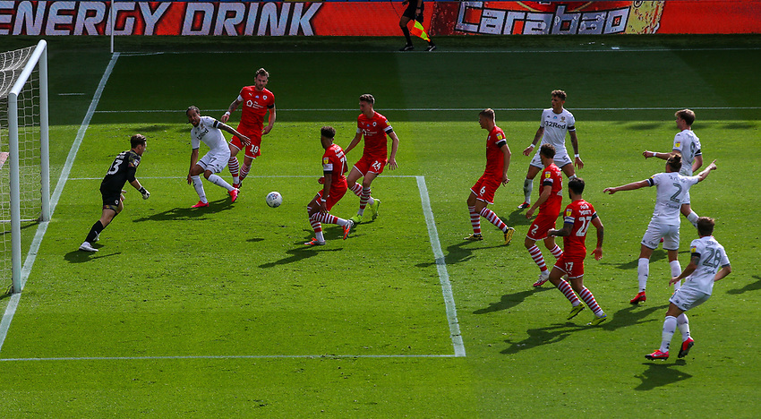 Leeds United's Helder Costa gets behind the Barnsley defence <br /> <br /> Photographer Alex Dodd/CameraSport<br /> <br /> The EFL Sky Bet Championship - Leeds United v Barnsley - Thursday 16th July 2020 - Elland Road - Leeds<br /> <br /> World Copyright © 2020 CameraSport. All rights reserved. 43 Linden Ave. Countesthorpe. Leicester. England. LE8 5PG - Tel: +44 (0) 116 277 4147 - admin@camerasport.com - www.camerasport.com