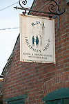 Sign for Riding for the Disabled charity at Pettistree Hall, Sutton, Suffolk, England