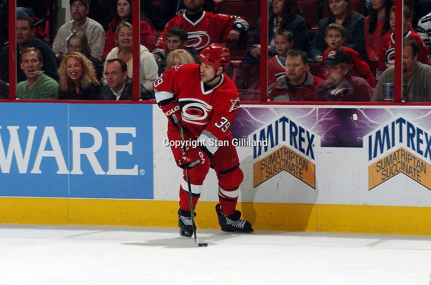 Carolina Hurricanes' Doug Weight looks to pass during a game with the Florida Panthers Friday, March 3, 2006 at the RBC Center in Raleigh, NC. Carolina won 5-2.