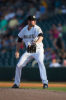 Charlotte Knights starting pitcher Scott Carroll (29) in action against the Norfolk Tides at BB&T BallPark on July 17, 2015 in Charlotte, North Carolina.  The Knights defeated the Tides 5-4.  (Brian Westerholt/Four Seam Images)