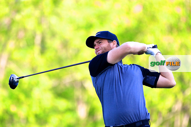 Lucas Bjerregaard (SWE) during the third round of the Volvo China Open played at Topwin Golf and Country Club, Huairou, Beijing, China 27- 30 April 2017.<br /> 28/04/2017.<br /> Picture: Golffile | Phil Inglis<br /> <br /> <br /> All photo usage must carry mandatory copyright credit (&copy; Golffile | Phil Inglis)