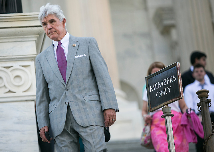 UNITED STATES - JULY 29:  Rep. Roger Williams, R-Calif., walks down the House steps at the Capitol following the final votes before the August recess on Wednesday, July 29, 2015. The House of Representatives will not meet again until September 8, 2015. (Photo By Al Drago/CQ Roll Call)
