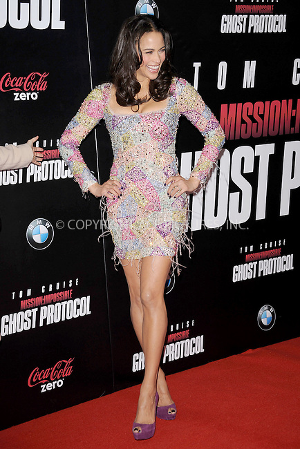 WWW.ACEPIXS.COM . . . . . December 19, 2011...New York City....Paula Patton attends the 'Mission: Impossible - Ghost Protocol' U.S. premiere at the Ziegfeld Theatre on December 19, 2011 in New York City....Please byline: KRISTIN CALLAHAN - ACEPIXS.COM.. . . . . . ..Ace Pictures, Inc: ..tel: (212) 243 8787 or (646) 769 0430..e-mail: info@acepixs.com..web: http://www.acepixs.com .