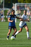 Kansas City, MO - Sunday August 28, 2016: Lo'eau LaBonta, Stephanie Verdoia during a regular season National Women's Soccer League (NWSL) match between FC Kansas City and the Boston Breakers at Swope Soccer Village.