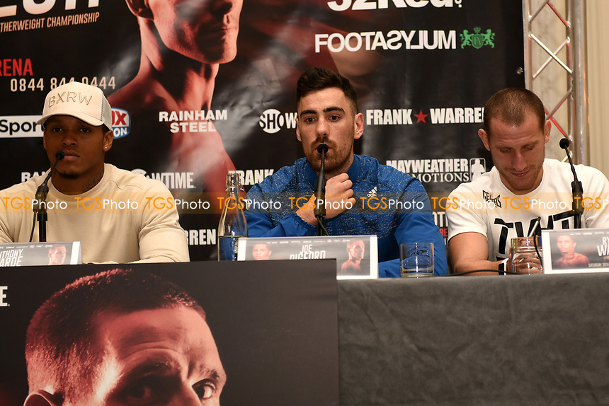 Joe Pigford speaks during a Press Conference at the Landmark Hotel on 18th May 2017