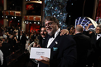 Guillermo Rodriguez and Guillermo del Toro pose with the Oscar&reg; for best motion picture for work on &ldquo;The Shape of Water&rdquo; during the live ABC Telecast of the 90th Oscars&reg; at the Dolby&reg; Theatre in Hollywood, CA on Sunday, March 4, 2018.<br /> *Editorial Use Only*<br /> CAP/PLF/AMPAS<br /> Supplied by Capital Pictures