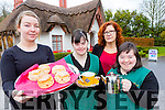 Nakita burke, Grace Murray, Claire McCarthy and Angela Kelliher who are busy at the Deenagh Lodge tea room which has reopened for the summer in aid of Down Syndrome
