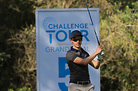 Daan Huizing (NED) on the 5th tee during Round 1 of the Challenge Tour Grand Final 2019 at Club de Golf Alcanada, Port d'Alcúdia, Mallorca, Spain on Thursday 7th November 2019.<br /> Picture:  Thos Caffrey / Golffile<br /> <br /> All photo usage must carry mandatory copyright credit (© Golffile | Thos Caffrey)