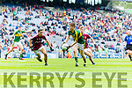 Brian Friel Kerry in action against Fionnán Garvey Galway in the All Ireland Minor Football Final in Croke Park on Sunday.