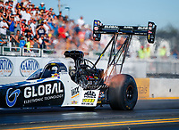 Jul 28, 2017; Sonoma, CA, USA; NHRA top fuel driver Shawn Langdon during qualifying for the Sonoma Nationals at Sonoma Raceway. Mandatory Credit: Mark J. Rebilas-USA TODAY Sports