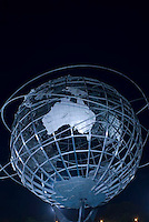 THIS IMAGE IS AVAILABLE EXCLUSIVELY FROM GETTY IMAGES<br /> <br /> PLEASE SEARCH FOR IMAGE # 75461141 ON WWW.GETTYIMAGES.COM<br /> <br /> The Unisphere, Steel Globe Built for the 1964-65 World's Fair, Flushing Meadow Corona Park, Queens, New York City, New York State, USA