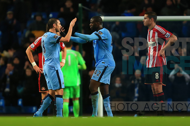 Yaya Toure of Manchester City congratulates Frank Lampard - Manchester City vs. Sunderland - Barclay's Premier League - Etihad Stadium - Manchester - 28/12/2014 Pic Philip Oldham/Sportimage