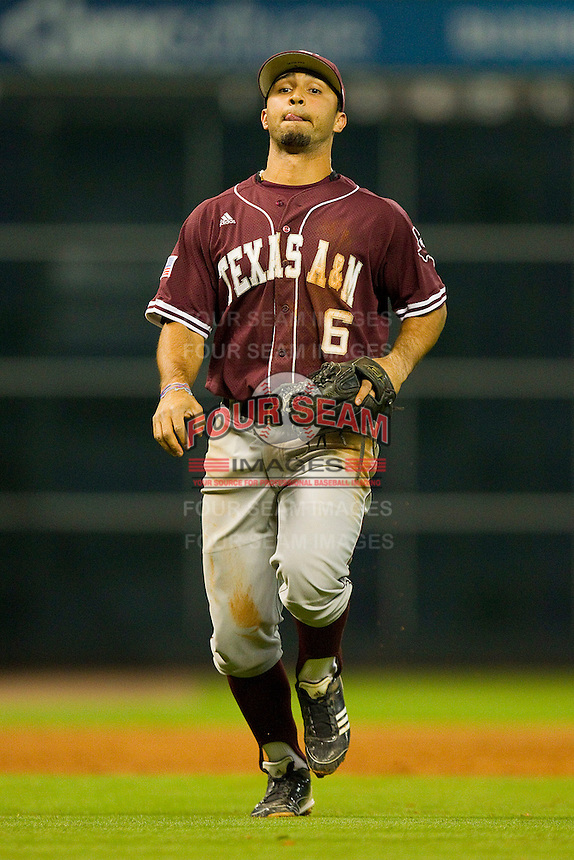 Third baseman Andrew Collazo #6 of the Texas A&M Aggies on defense against the Rice Owls at Minute Maid Park on March 5, 2011 in Houston, Texas.  Photo by Brian Westerholt / Four Seam Images