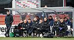 09.12.2018 Dundee v Rangers: Steven Gerrard and Rangers bench
