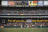 Wide view of the playing field from the end zone during the third quarter of the game pitting the New Orleans Saints against  the Washington Redskins at Robert F. Kennedy Stadium in Washington, DC on October 28, 1979.  The Saints won the game 14 - 10.<br /> Credit: Arnie Sachs / CNP