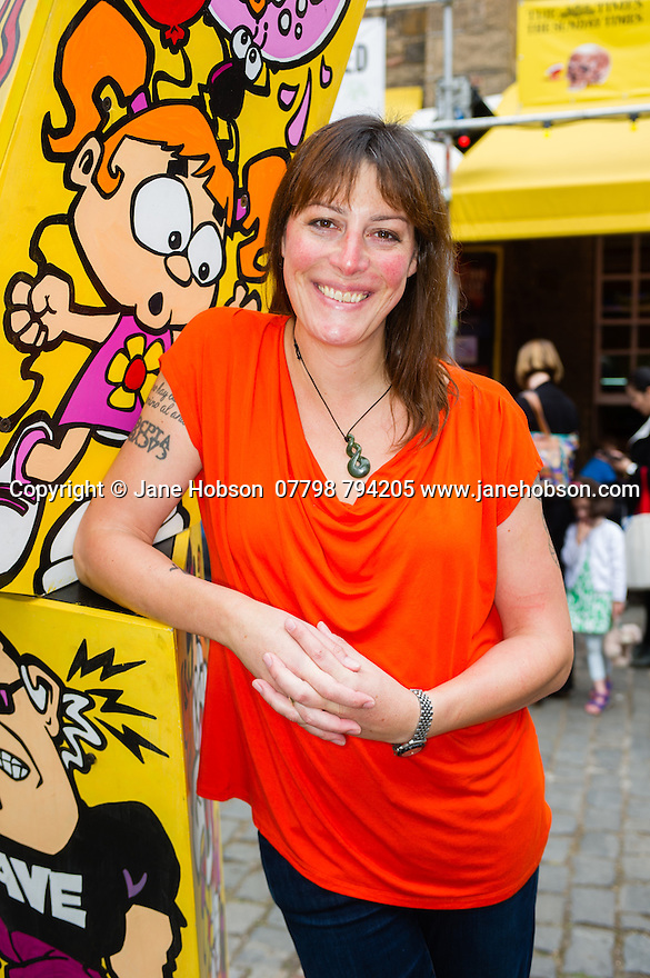 "Edinburgh, UK. 18.08.2015. Rebecca Root, actor, at the Pleasance Courtyard, where she is appearing in ""Trans Scripts"" as part of the Edinburgh Festival Fringe. Rebecca also stars in the new, soon-to-be-screened, BBC sitcom, ""Boy Meets Girl"", the UK's first trans-focussed sitcom. Photograph © Jane Hobson."