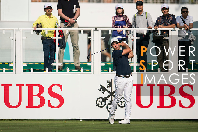 Nino Bertasio of Italy tees off the first hole during the 58th UBS Hong Kong Golf Open as part of the European Tour on 08 December 2016, at the Hong Kong Golf Club, Fanling, Hong Kong, China. Photo by Marcio Rodrigo Machado / Power Sport Images