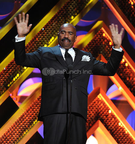 BURBANK, CA - APRIL 26: Steve Harvey appears on the 42nd Annual Daytime Emmy Awards at the Warner Bros. Studio Lot on April 26, 2015 in Burbank, California. Credit: mpiPGFM/MediaPunch