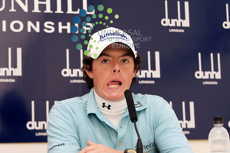 The Alfred Dunhill Golf Championship 2009 at The Old Course, St Andrews, Kingsbarns and Carnoustie..Young Irish golfer Rory McIlroy in his press congference ahead of  the Practise  Round of the Alfred Dunhill Golf Championship...Picture by Mark Davison/ Universal News & Sport