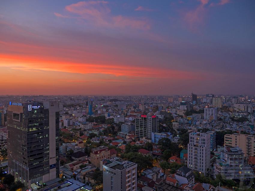 Daily Life in Ho Chi Minh City or Saigon, Vietnam