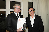 October 11, 2012 - Montreal. Quebec , Canada - Launch of TOP QUEBEC fashion magazine first issue at Saint-Sulpice Hotel - publisher Jean-Marc Papineau (L)