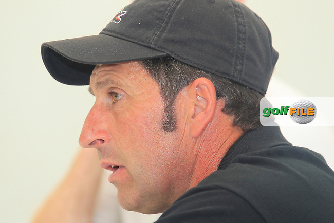 European Team Ryder Cup Captain Jose Maria Olazabal (ESP) at a press conference during Wednesday's Pro-Am day of the ISPS Handa Wales Open presented by The Celtic Manor Resort, Newport, Wales, 30th May 2012 (Photo Eoin Clarke/www.golffile.ie)