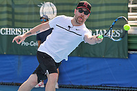 DELRAY BEACH, FL - NOVEMBER 05: David Cook participates in the 28th Annual Chris Evert/Raymond James Pro-Celebrity Tennis Classic at Delray Beach Tennis Center on November 5, 2017 in Delray Beach, Florida<br /> CAP/MPI122<br /> &copy;MPI122/Capital Pictures