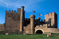 Spanien, Kastilien-León, Ponferrada, Templerburg..