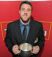 Wellington Rugby Supporters Player of the Year Jeremy Thrush at the Wellington Rugby Union Tui Awards at the Embassy Theatre, Wellington, New Zealand on Tuesday, 30 October 2012. Photo: Dave Lintott / lintottphoto.co.nz