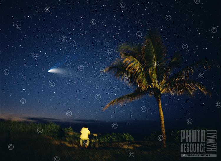 Watching Comet Hale-Bopp, Oahu, Hawaii.