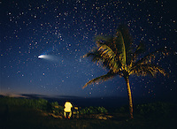 Watching Comet Hale-Bopp, Oahu, Hawaii.