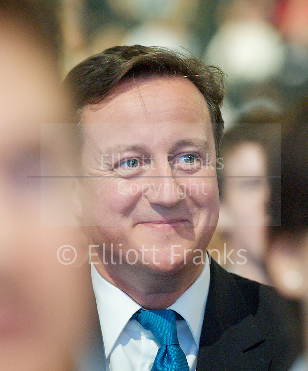 Conservative Party Annual Conference, Manchester, Great Britain <br /> 2nd - 5th October 2011 <br /> <br /> British Prime Minister <br /> The Rt Hon David Cameron MP<br /> Member of Parliament<br /> for Witney<br /> <br /> Photograph by Elliott Franks