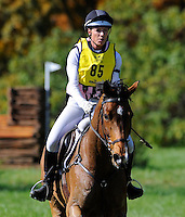 Ballylaffin Bracken, with rider Kristin Schmolze (USA), competes during the Cross Country test during the Fair Hill International at Fair Hill Natural Resources Area in Fair Hill, Maryland on October 20, 2012.