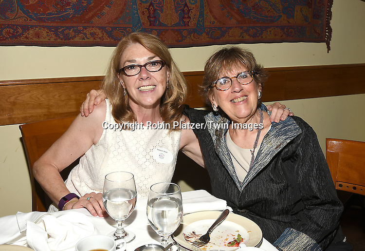 Barbara Becker and Helene Young attend the Big Apple Knitters Guild 25th Annual Luncheon Gala on September 24, 2016 at Kellari Taverna in New York City, New York, USA. <br /> <br /> photo by Robin Platzer/Twin Images<br />  <br /> phone number 212-935-0770