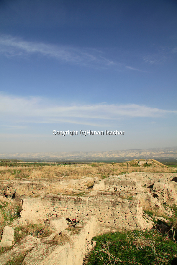 Israel, Beth Shean valley, Tel Rehov, site of Canaanite and Israelite settlements