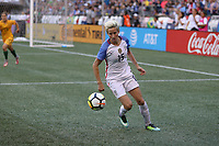Seattle, WA - Thursday July 27, 2017: Megan Rapinoe during a 2017 Tournament of Nations match between the women's national teams of the United States (USA) and Australia (AUS) at CenturyLink Field.