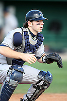 February 20, 2009:  Catcher Doug Elliott (8) of the University of Connecticut during the Big East-Big Ten Challenge at Jack Russell Stadium in Clearwater, FL.  Photo by:  Mike Janes/Four Seam Images
