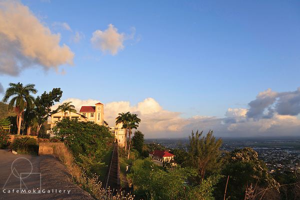 Landscape and the monastery at Mount St Benedict, Trinidad