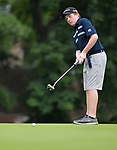 Tyler Austin with the Lake Forest Country Club watches his putt on the first day of the Metropolitan Amateur Golf Association's 20th Junior Amateur Championship being held at the St. Clair Country Club in Belleville, IL on July 1, 2019. <br /> Tim Vizer/Special to STLhighschoolsports.com