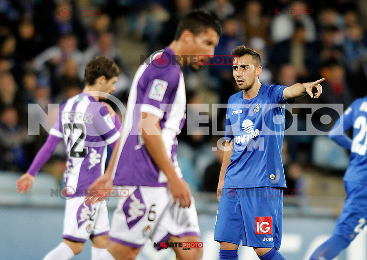 Getafe's Paco Alcocer during La Liga match.November 18,2012. (ALTERPHOTOS/Acero) NortePhoto