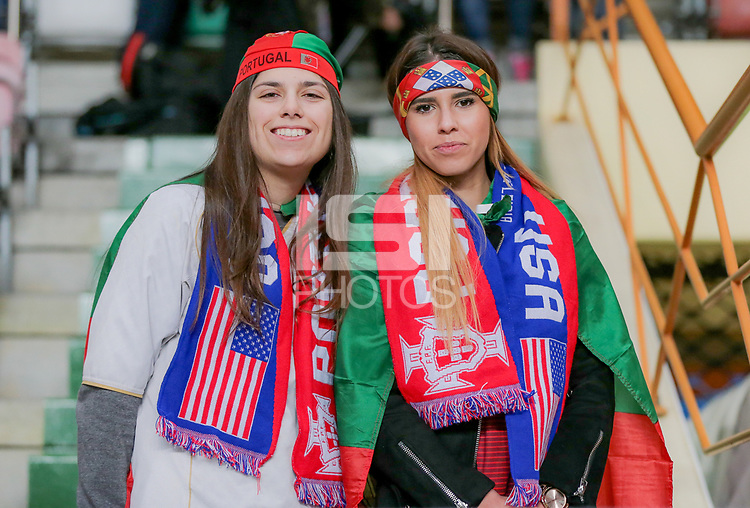 Leiria, Portugal - Tuesday November 14, 2017: USA supporters during an International friendly match between the United States (USA) and Portugal (POR) at Estádio Dr. Magalhães Pessoa.