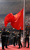 Viene issata la bandiera della Cina<br /> Pechino - Beijing 8/8/2008 Olimpiadi 2008 Olympic Games<br /> The Opening ceremony for the XXIX Olympic games.<br /> Cerimonia d'apertura delle Olimpiadi di Pechino 2008<br /> Foto Andrea Staccioli Insidefoto
